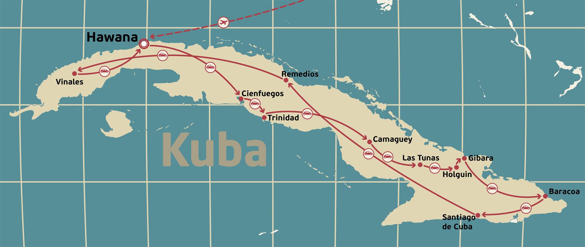 Mapa Kuba