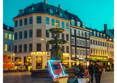 Kopenhaga_Stroget Fontanna Bocianow