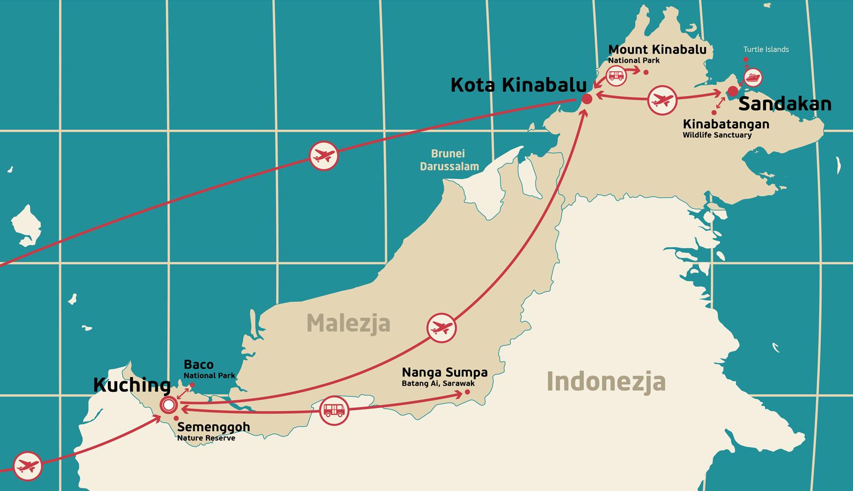 Mapa Borneo