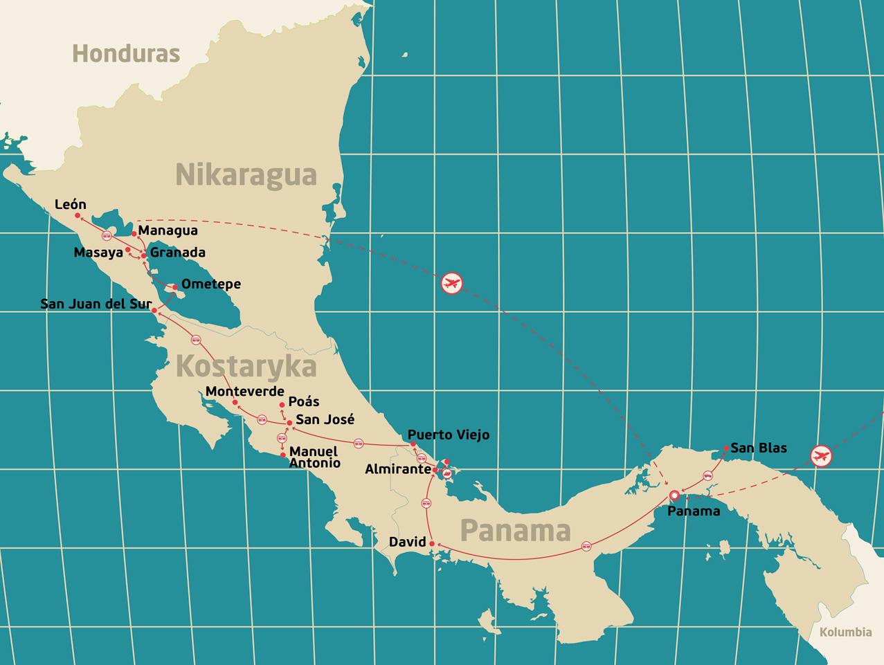 Panama_Kostaryka_Nikaragua