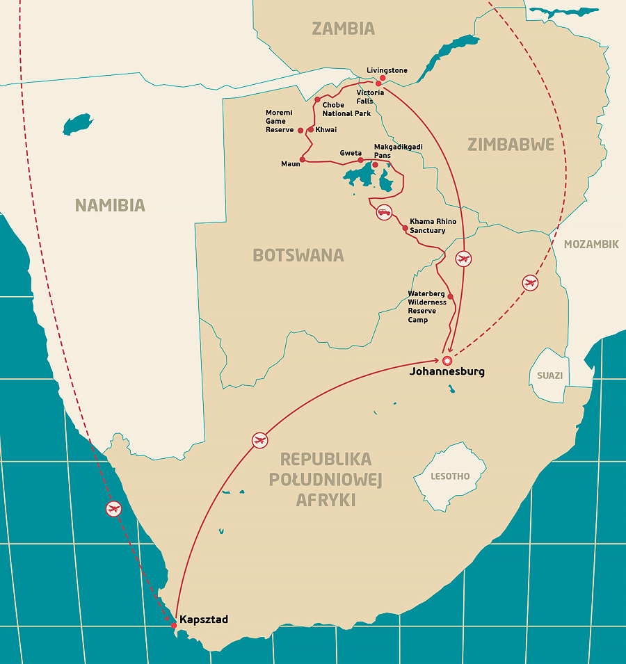 Mapa-BOTSWANA