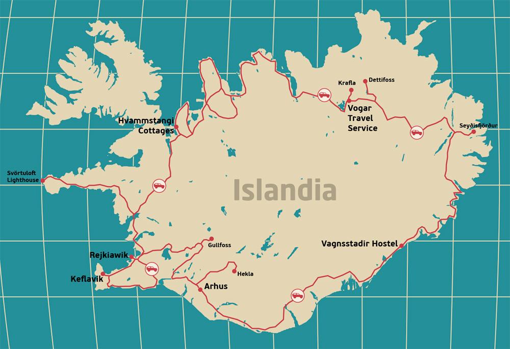 Mapa-Islandia