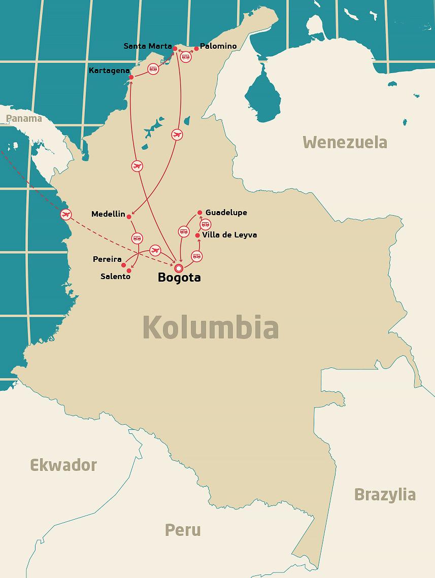 Mapa-Kolumbia
